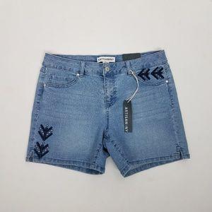 Artisan NY Jean Shorts Sz 6 Blue G8